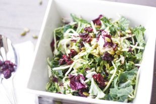 Kale Salad with Poppy Seed Dressing | aheadofthyme.com